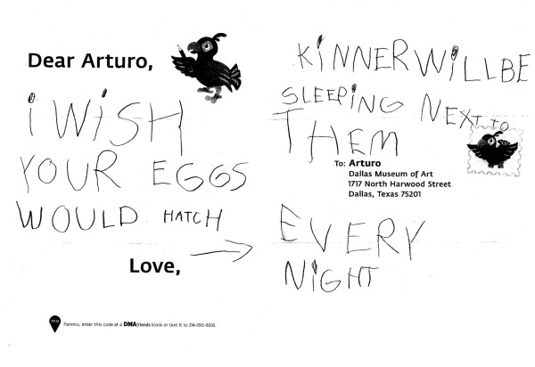Arturo also hopes the eggs will hatch soon, Kinner! It will be great to have some new bird friends to play with.