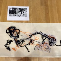 """Felt and string version for the DMA's """"Cathedral"""" activity."""