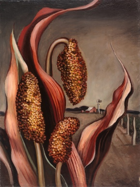 Otis Dozier, Maize and Windmill, 1937, Dallas Museum of Art, The Barrett Collection.