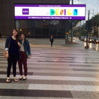 Interns arrive at the convention center!