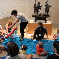 Storytime in the gallery in front of Takenouchi no Sukune Meets the Dragon King of the Sea