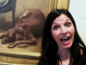 Amanda connects with Miss Dorothy Quincy Roosevelt because, if she were to have her portrait painted, she'd also include her dog.