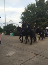 Dallas police officers on horseback.