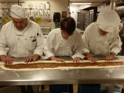 Assembling Russian braided bread
