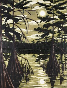David Bates, Catfish Moon, 1986, Dallas Museum of Art, The Barrett Collection, Dallas, Texas