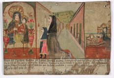 Retablo Dedicated by Nicolasa Morena, Latin American, August 14, 1912, Dallas Museum of Art, gift of Mr. and Mrs. Stanley Marcus Foundation