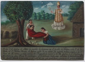 Retablo Dedicated by Nicolaz Morales, Latin American, October 7, 1886, Dallas Museum of Art, gift of Mr. and Mrs. Stanley Marcus Foundation