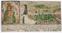 Retablo Dedicated by Aurelia Tovar de Perez, Latin American, July 10, 1913, Dallas Museum of Art, gift of Mr. and Mrs. Stanley Marcus Foundation