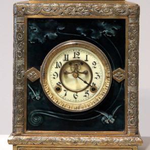 Albatross mantel clock, c. 1884-1886, New Haven Clock Co., 1990.134