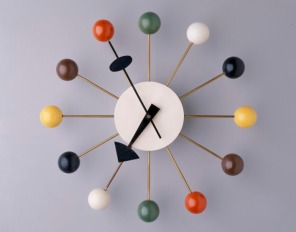 """Ball"" Wall Clock, George Nelson Associates, Howard Miller Clock Company, designed 1947, 1994.255"