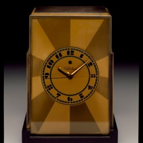 """""""Telechron"""" Mantel Clock, designed c. 1928 by Paul Frankl, manufactured by Warren Electric Company, 1994.8"""
