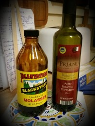 blackstrap molasses + balsamic vinegar