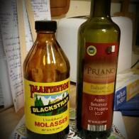 blackstrap molasses + balsamic vinegar