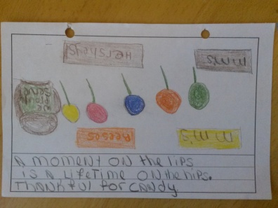 """""""A moment on the lips is a lifetime on the hips. Thankful for candy."""""""
