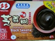 powdered black sesame dessert