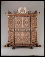 Cabinet, c. 1680–1700, located in the Spanish Colonial gallery, Dallas Museum of Art, gift of The Eugene McDermott Foundation, in honor of Carol and Richard Brettell.