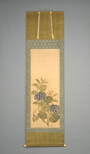 Hydrangea, Nokamura Hochu, Early 19th century, Dallas Museum of Art, bequest of Dorace M. Fichtenbaum.