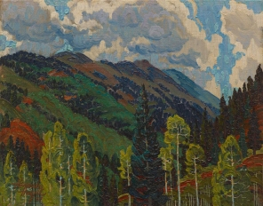 Alexandre Hogue, From Harriett's Cabin, 1927, Dallas Museum of Art, The Barrett Collection, Dallas, Texas
