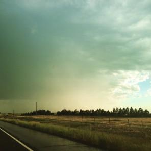 Distant rainstorm, Wyoming