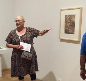 Deborah teaching new volunteers