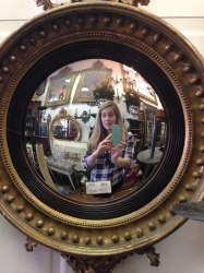Lindsay took a selfie with this Renaissance-inspired mirror while at an antique store on King Street.