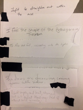 Collaborative poem inspired by Dorothea Rockburne.