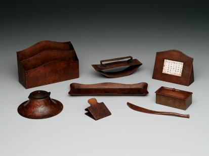 Gustav Stickley, Desk set, c. 1909, Dallas Museum of Art, gift of Beth Cathers and Robert Kaplan