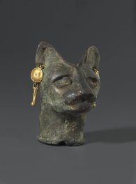 Cat's Head, Egypt, 30 B.C to 3rd century C.E., Brooklyn Museum, Charles Edwin Wilbour Fund