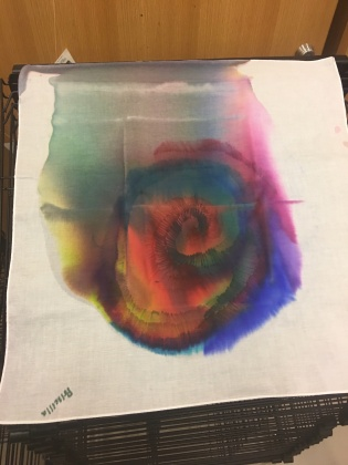Creation of the tie dye station