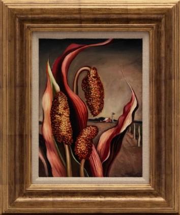 Maize and Windmill, 1937, Otis Dozier, Dallas Museum of Art, The Barrett Collection, Dallas, Texas, ©Denni Davis Washburn, William Robert Miegel Jr, and Elizabeth Marie Miegel