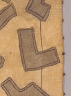 Detail of Skirt with grey appliqué, early 20th century, Africa, Kuba peoples, Dallas Museum of Art, The Eugene and Margaret McDermott Art Fund, Inc.