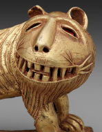 Sword ornament in the form of a lion, Ghana Asante peoples, mid-20th century, Dallas Museum of Art, The Eugene and Margaret McDermott Art Fund, Inc.