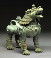 Pair of guardian lions, Nepal, 1815, Dallas Museum of Art, gift of David T. Owsley via the Alvin and Lucy Owsley Foundation