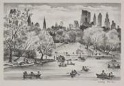 Adolf Dehn, Lake in Central Park, 1947, Dallas Museum of Art, Foundation for the Arts Collection, gift of Mrs. Alfred L. Bromberg