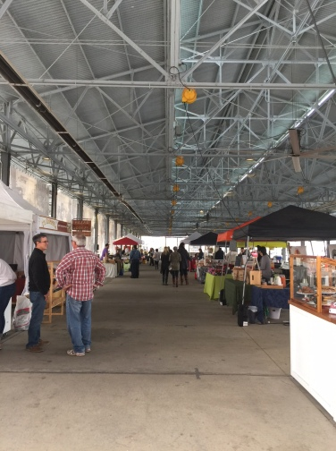 Vendors inside The Shed