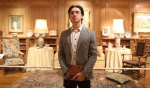Teen Ambassador Arik as Igor Stravinsky in the evening's Reves Murder Mystery